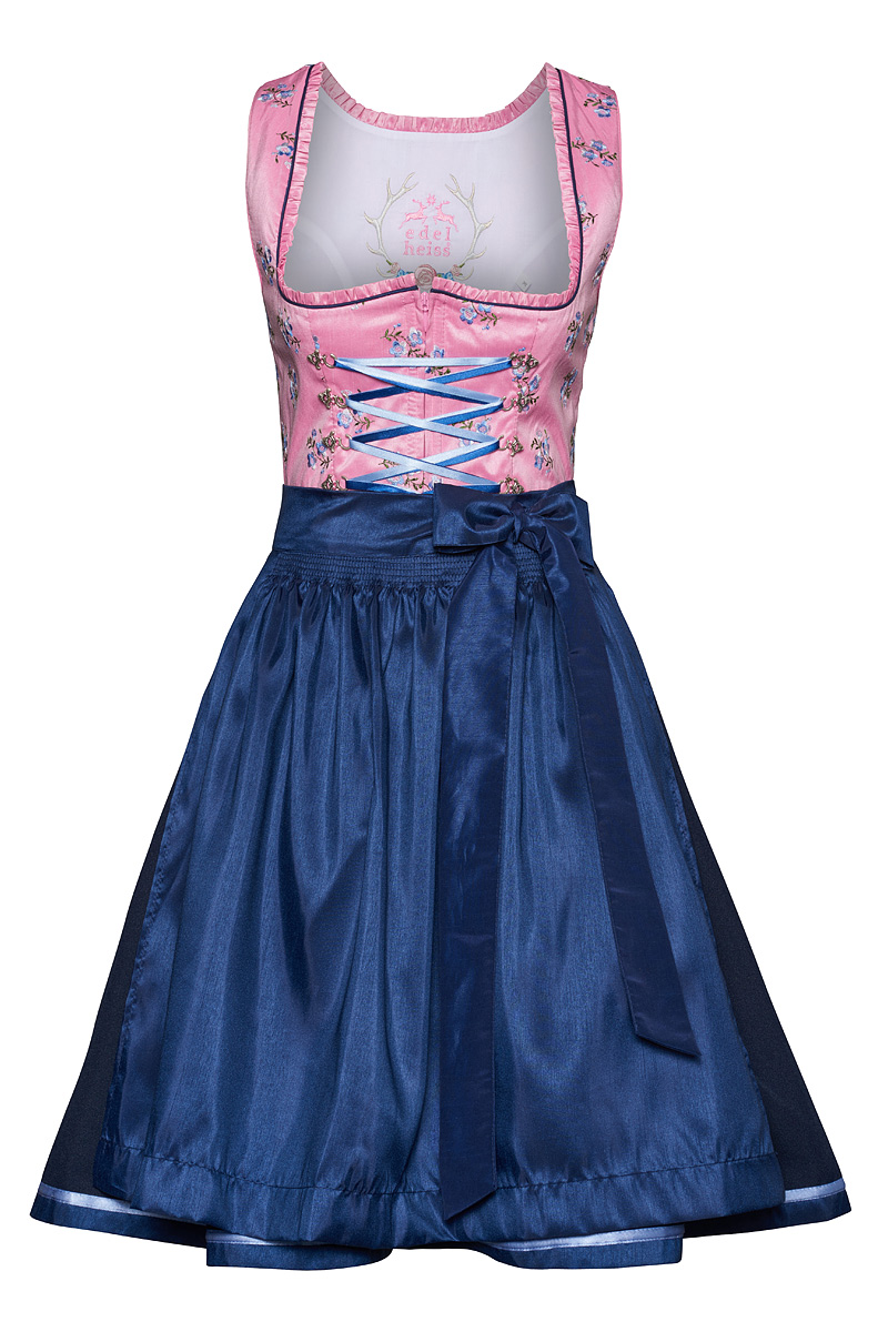 edelheiss mini dirndl 60er rosa blau nadja 132512. Black Bedroom Furniture Sets. Home Design Ideas